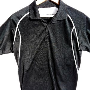 Nike Golf Shirt DRI-FIT Polo Black Sz Small